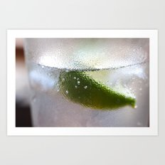Gin and Soda with Lime Art Print