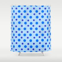 polka dots Shower Curtains featuring Polka Dots by Texture