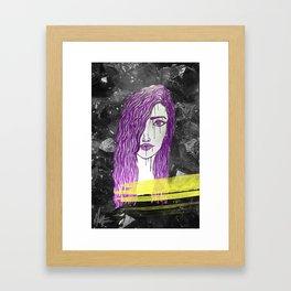 A Violet Gem Framed Art Print