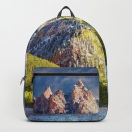 Colorado Rocky Mountain First Snow Maroon Bells Backpack