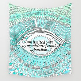 Positive affirmation, mindfulness quote, hand-drawn lettering, yoga art, yoga drawing, motivation Wall Tapestry