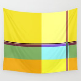 CASUAL YELLOW GEOMETRIC Wall Tapestry