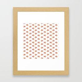 goldfish White Framed Art Print