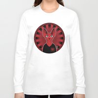 sphynx Long Sleeve T-shirts featuring Sphynx! by Visually Odd