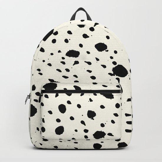 Tribal Dot Black Earth on Ivory Backpack