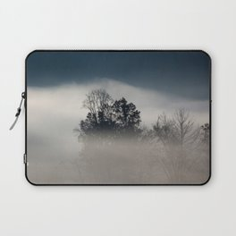 Morning Fog with Trees Laptop Sleeve