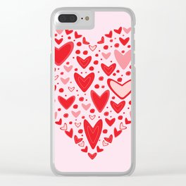 Love concept of hearts in the shape of a heart Clear iPhone Case