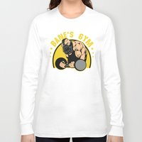 gym Long Sleeve T-shirts featuring B Gym by Buby87