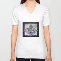 diamonds V-neck T-shirts featuring Diamonds by Sil-la Lopez