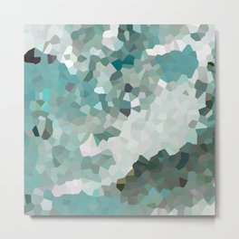 Mint Moon Metal Print