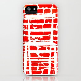 White Chair Red Brick Wall iPhone Case