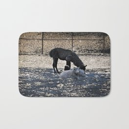 The Story of the Goat, the Llama, and the Sheep Bath Mat