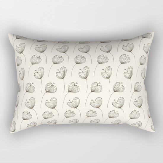 Delicate Floral Bright Pattern Rectangular Pillow