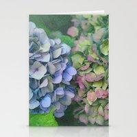hydrangea Stationery Cards featuring hydrangea by EnglishRose23