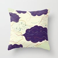 celestial Throw Pillows featuring Celestial by Grace Anne