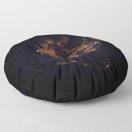 Fascinating Blue Marble Earth Globe Europe Africa Satellite Telescope Ultra HD Floor Pillow
