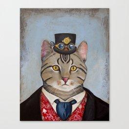 Sir Kitty Steampunk anthropomorphic Canvas Print