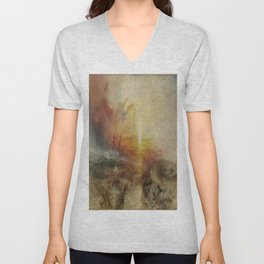Joseph Mallord William Turner's The Slave Ship Unisex V-Neck