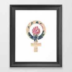 Respect, equality, women's liberation. Feminism Power Fist / Raised Fist Framed Art Print