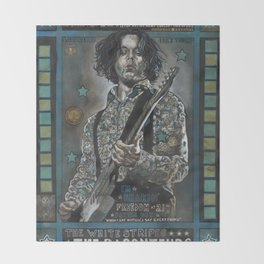 Jack White Throw Blanket