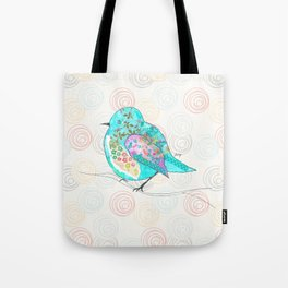 Quirk the Blue Bird Tote Bag