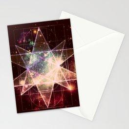 Galaxy Sacred Geometry : Stellated Icoshadron Warmth Stationery Cards