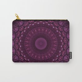 Mandala in red and pink tones Carry-All Pouch