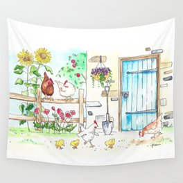 Yay, Chickens! Wall Tapestry
