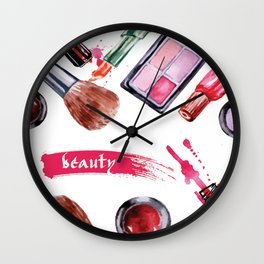 make up pattern Wall Clock