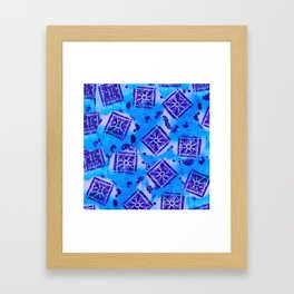 Mosaic Pattern Framed Art Print