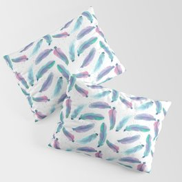 Watercolor Feathers Pillow Sham