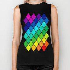 Tetrahedral Rainbow Biker Tank