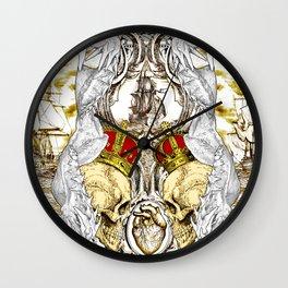 The Shark and The Kings - Skull Nautical Theme Wall Clock