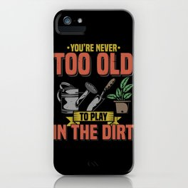Funny Gardening T Shirts lawn mover plants iPhone Case