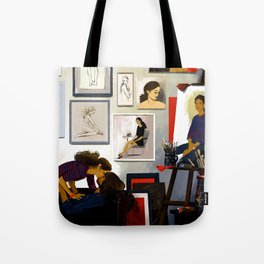 The artist & his muse Tote Bag