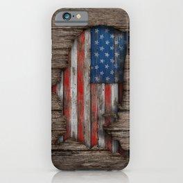 American Wood Flag iPhone Case