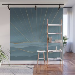 Blueprint Abstract Nature Composition Wall Mural