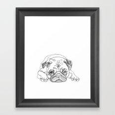 Lazy Pugturday Framed Art Print