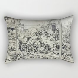 The revolt in heaven Rectangular Pillow