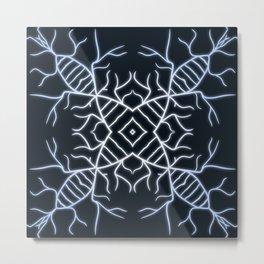 Diatom Snowflake Metal Print