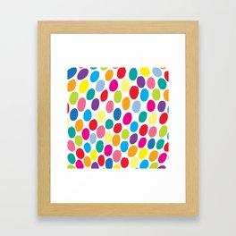 Colour Spots White Framed Art Print