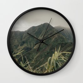 Salty Ridgeline Wall Clock