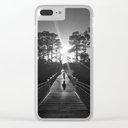 Southern Living - Watercolor, Florida (B&W) Clear iPhone Case