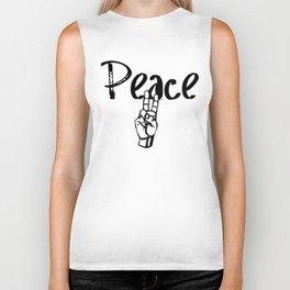Peace logo Biker Tank
