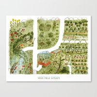 vegetable Canvas Prints featuring Vegetable Garden by Aidan Meighan