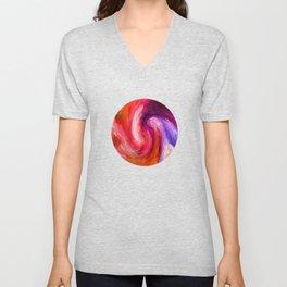 Fiery Swirl Unisex V-Neck