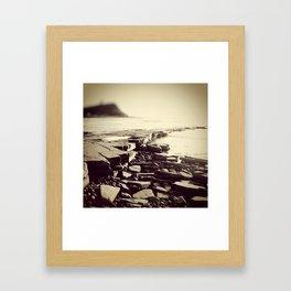 The Misty Shore Framed Art Print