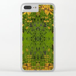 GREEN YELLOW RUDBECKIA DAISIES WATER REFLECTIONS Clear iPhone Case