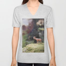 Temporary Happiness part 1 deer Unisex V-Neck