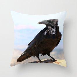 Bryce Canyon Raven Throw Pillow